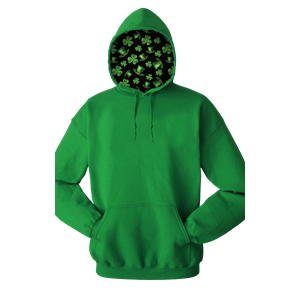 St Patrick's  ADULT FLEECE PULLOVER HOODIE KELLY EXTRA SMALL SOLID