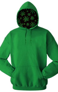 Cannabis Adult Pullover Hoodie KELLY SMALL SOLID