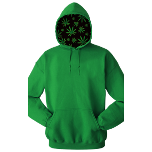 Cannabis Adult Pullover Hoodie KELLY EXTRA SMALL SOLID