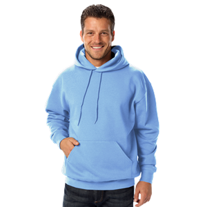 ADULT FLEECE PULLOVER HOODIE  -  CAROLINA BLUE EXTRA SMALL SOLID