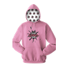 YOUR LOGO HERE FLEECE PULLOVER HOODIE DARK PINK EXTRA SMALL SOLID