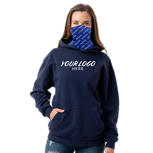 ESSENTIAL SUBLIMATED GAITER PULLOVER  HOODIE NAVY SMALL SOLID