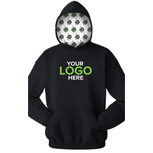 YOUR LOGO HERE ADULT FLEECE PULL OVER HOODIE BLACK SMALL SOLID