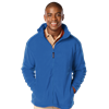 MENS POLAR FLEECE JACKET  -  BLUE SMALL SOLID