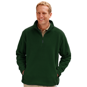 ADULT POLAR FLEECE L/S 1/2 ZIP PULLOVER -  HUNTER EXTRA SMALL SOLID