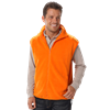 ADULT POLAR FLEECE SLEEVELESS VEST CO# - ORANGE MEDIUM SOLID