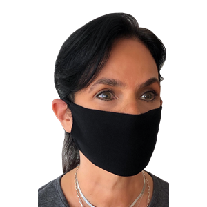 BG FACE MASK 100PCS PACK BLACK ONE SIZE SOLID