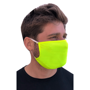 BG HI VIS FACE MASK OPTIC YELLOW 25 PC PREPACK SOLID
